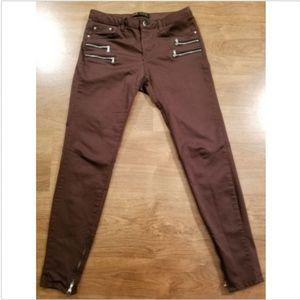 ZARA Skinny Moto Jeans Size 6